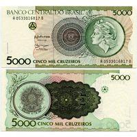 Бразилия. 5000 крузейро (образца 1990 года, P227, UNC)