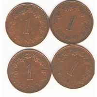 Мальта: 1 цент 1972, 1975,1977, 1982