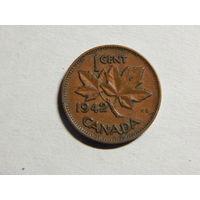 Канада 1 цент 1942г