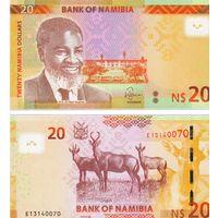 Намибия 20 долларов  2018 год  UNC