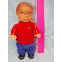 Кукла ГДР заводной клоун ( но нет механизма) с дефектом