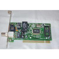 Сетевая карта PCI с разъёмами BNC, UTP для ретро-плат AT-486, Pentium
