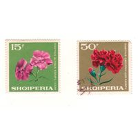 Албания. Цветы. 2 марки