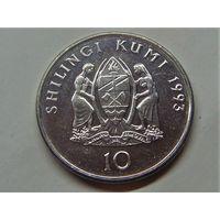 Танзания 10 шиллингов 1993