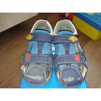 Обувь детская Сандалии синие для мальчика БЕСПЛАТНО ВТОРОЙ товар (одежда-обувь)  на выбор!