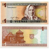 Литва. 1 лит (образца 1994 года, P53, UNC) [серия AAH]