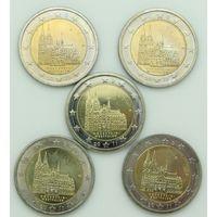Германия 2 евро 2011 Северный Рейн-Вестфалия (A,D,F,G,J) 5 монет