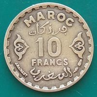 10 франков 1952 МАРОККО Французский протекторат