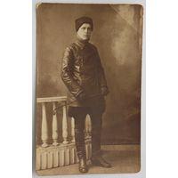 Фото кавалериста периода гражданской войны художественная светопись М.Менькина Бобруйск