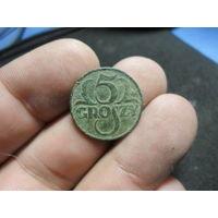 5 грошей 1937 г. Речь Посполита