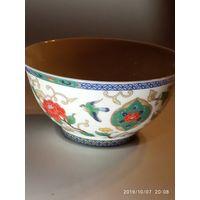 Чаша ваза фарфор . Старинный Китай .Ручная роспись .