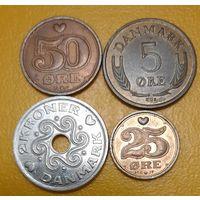 РАСПРОДАЖА - Дания: 4 монеты 1966 - 2005 гг_смотрите все лоты