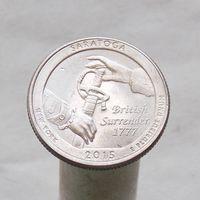 США 25 центов 2015 P Нью-Йорк - Национальный исторический парк Саратога