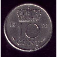 10 центов 1950 год Нидерланды