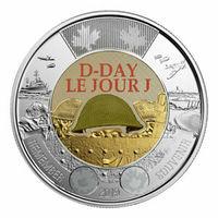 Канада 2 доллара 2019 г. (D-DAY 75 лет высадке союзников в Нормандии ) цветная/UNC