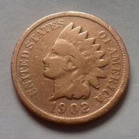 1 цент, США 1902 г., чукча в перьях-3