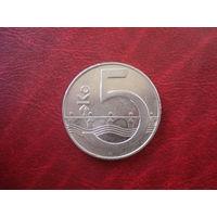 5 крон 1994 год Чехия