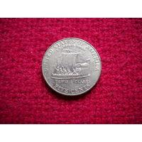 США 5 центов 2004 г. (D) Корабль Льюис и Кларк