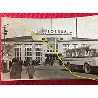 Фото Гродно - автовокзал - автобусы - времена БССР