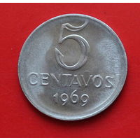 07-15 Бразилия, 5 сентаво 1969 г