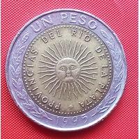 05-11 Аргентина, 1 песо 1995 г.