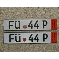 Автомобильный номер Германия FU44P