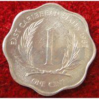 7578:  1 цент 1987 Восточные Карибы