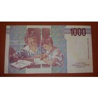 Банкнота 1000 лир Италия 1990