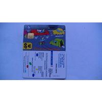Францыя телефонная карточка 40 евро.  распродажа