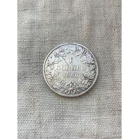 Германия Баден 1 гульден 1860 г., очень редкий год