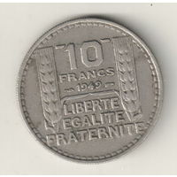 Франция 10 франк 1949