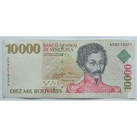 Венесуэла 10000 Боливаров 1998, VF (надпись), 655