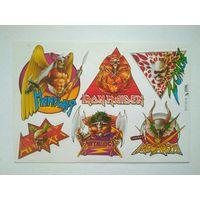 Наклейки музыкальных групп Metallica Металлика Iron Maiden Manowar и пр.