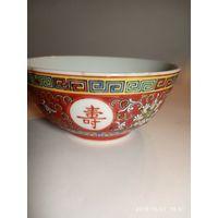 Чаша ваза  фарфор . Старинный Китай. Ручная Роспись .