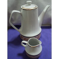 Кофейник +сливочник chodziez made in poland -1960-е г(цена  за 1ед) . лот 39