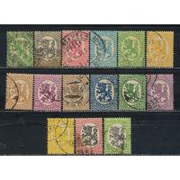 Финляндия 1917-30 Герб Стандарт БВЗ #68-73,77,79,81-6,90
