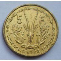 Французская Западная Африка 5 франков 1956