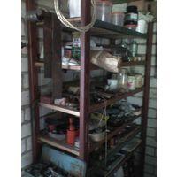 Стеллаж металлический для гаража с заполнением полок