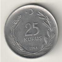Турция 25 куруш 1961