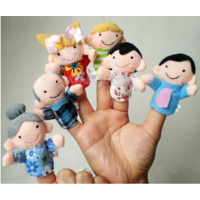 Пальцевые Finger куклы новые - на 1 палец, семейка плюшевые игрушки цена за 6 моделей - 1х6шт (20)