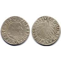 Грош 1544, Силезия, Лигниц-Бриг, Фридрих II