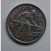 Люксембург 1 франк, 1935 6-2-11