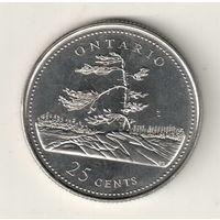 Канада 25 цент 1992 Онтарио