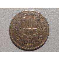 Датская западная Индия 1 цент 1860г