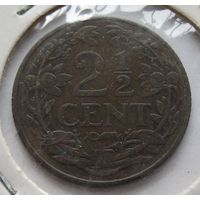 Нидерланды 2 1/2 цента 1916 - холдер