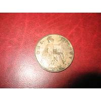 1 пенни 1921 года Великобритания