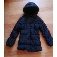 Куртка черная деми детская на 8-9 лет