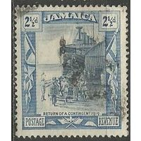 Ямайка. Высадка военного контингента. 1921г. Mi#91.