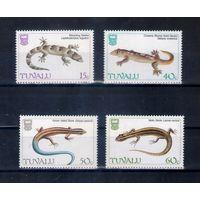 Ящерицы на марках острова Тувалу