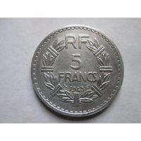 5 франков, Франция 1945 г.